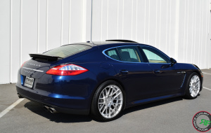 Porsche Panamera on 20x9 20x10.5 RoadForce RF008 Hyper silver finish