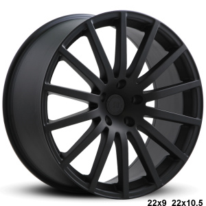 RoadForce RF14 22x9 22x10.5 Matte Black finish