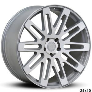 RoadForce RF24 24x10 Silver Machine Face finish
