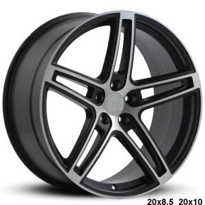 RoadForce RF5 20x8.5 20x10 satin black machine finish