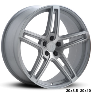 RoadForce RF5 20x8.5 20x10 satin Silver machine finish