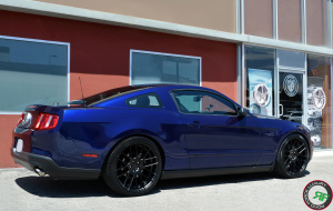 2012 Ford Mustang on 20x9 20x10.5 RoadForce RF008 Matte Black