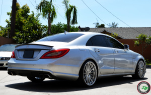 CLS 63 on Road Force RF15 20x8.5 front 20x10 Rear Silver Machine Face finish
