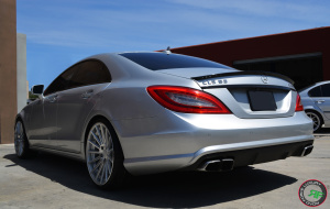 CLS63 on Road Force RF15 20x8.5 front 20x10 Rear Silver Machine Face finish