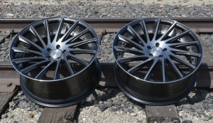 RoadForce RF16 22x9 22x10.5 gunmetal machine finish tinted clear