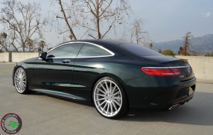 Mercedes S550 coupe on 22x9 22x10.5 RoadForce RF15 Silver machine face