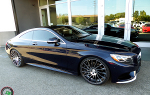 Mercedes S550 coupe on 22x9 22x10.5 RoadForce RF16 Graphite machine face tinted clear