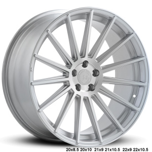 RoadForce RF15 20x8.5 20x10 21x9 21x10.5 22x9 22x10.5 Silver Machine finish