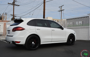 Porsche Cayenne GTS on 22x10.5 RoadForce RF11 wheels Gloss Black finish