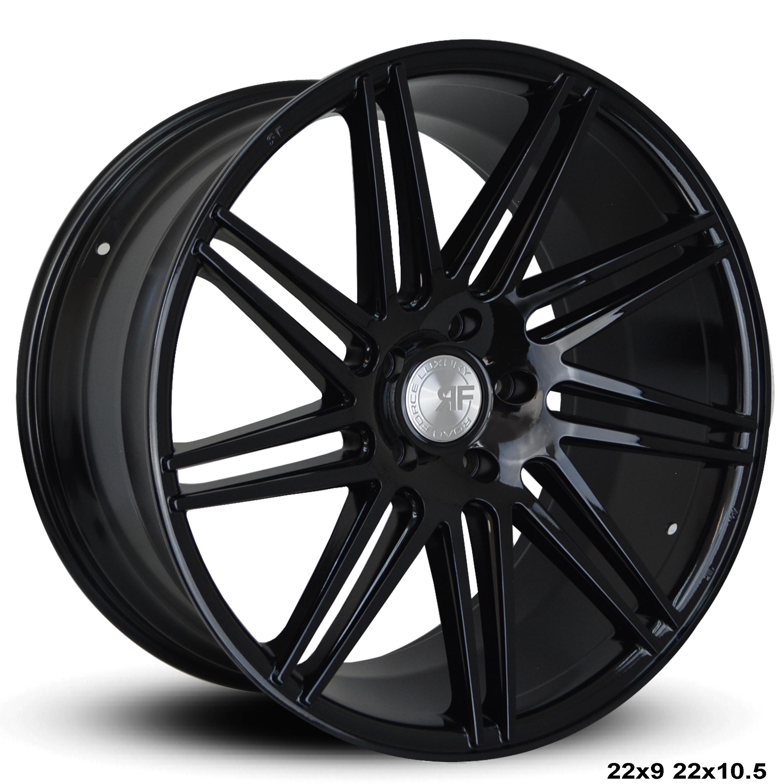 Roadforce Rf11 22x9 22x10 5 Gloss Black Finish Wheels